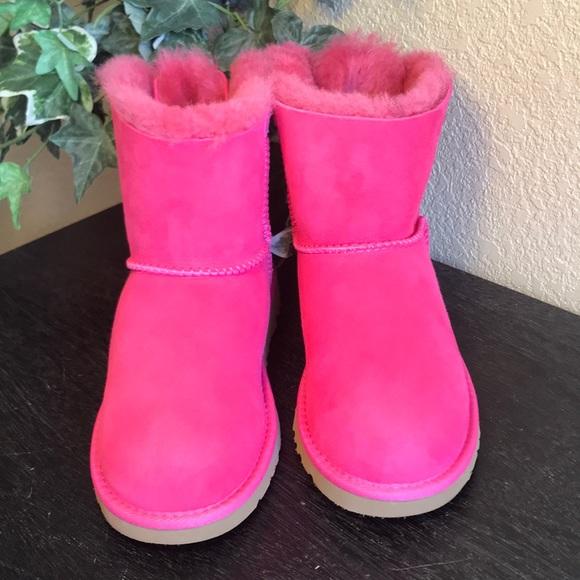 7af2266b469 UGG Mini Cerise Pink Bailey Bow Boots